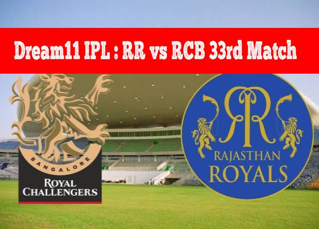Dream11 IPL : RR vs RCB