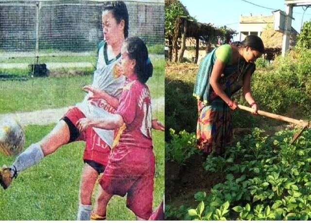 International football players are forced to sell wages and vegetables in the fields, no one is taking care