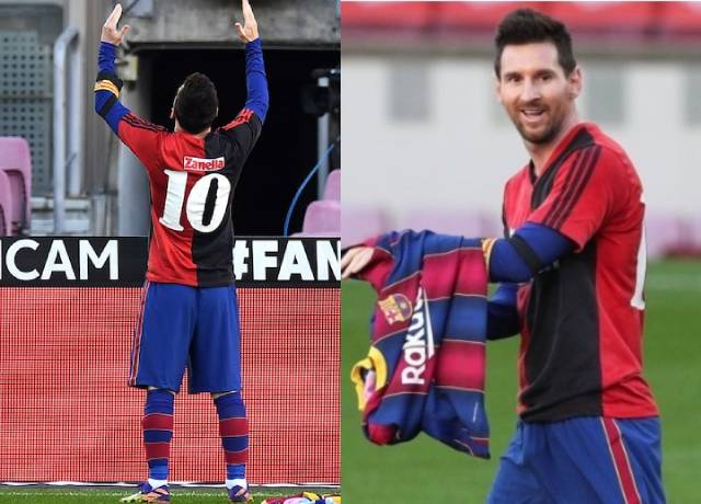 Messi fined for taking off jersey to pay tribute to Maradona