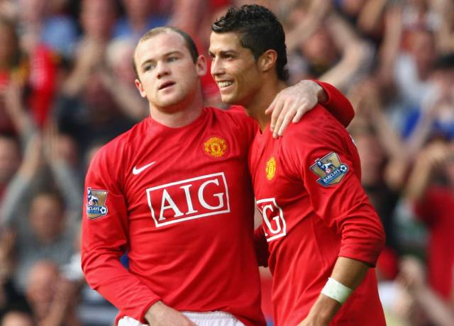 Wayne Rooney and Cristiano Ronaldo