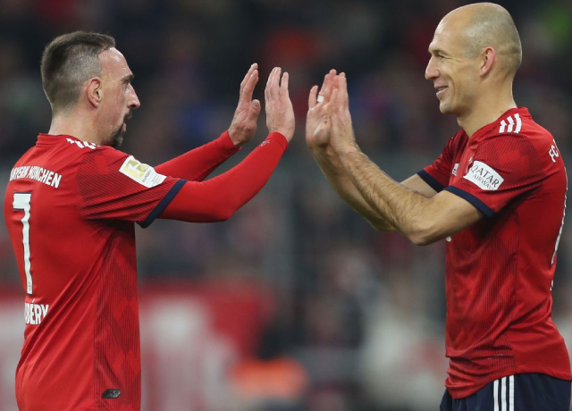 Arjen Robben and Franck Ribery