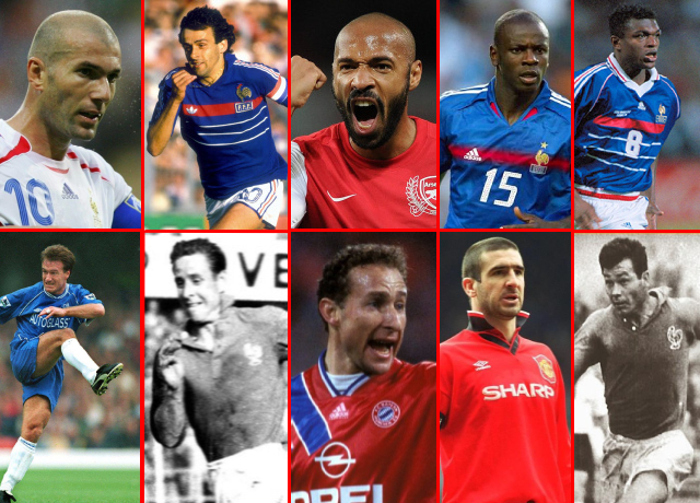 Top 10 greatest French players of all time