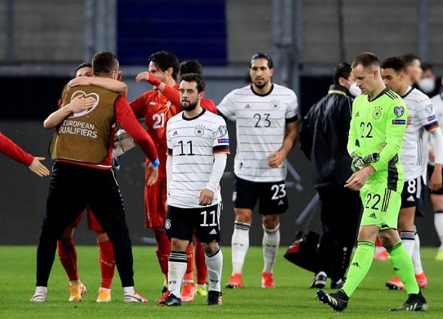 Germany's first defeat in 20 years in World Cup qualifiers