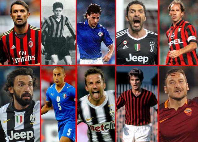 Top 10 greatest Italian players of all time