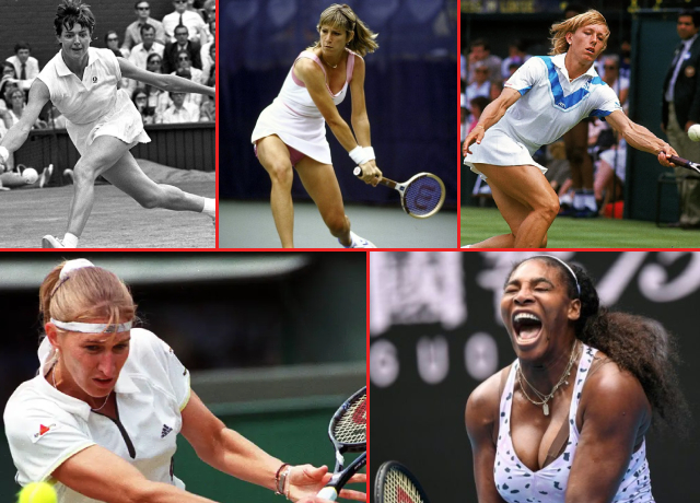Top 5 Greatest Women's Tennis Players of All Time