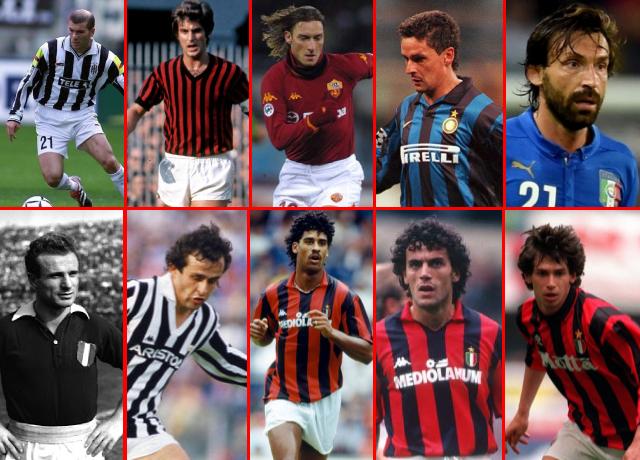 Top 10 Greatest Midfielders In Serie A History