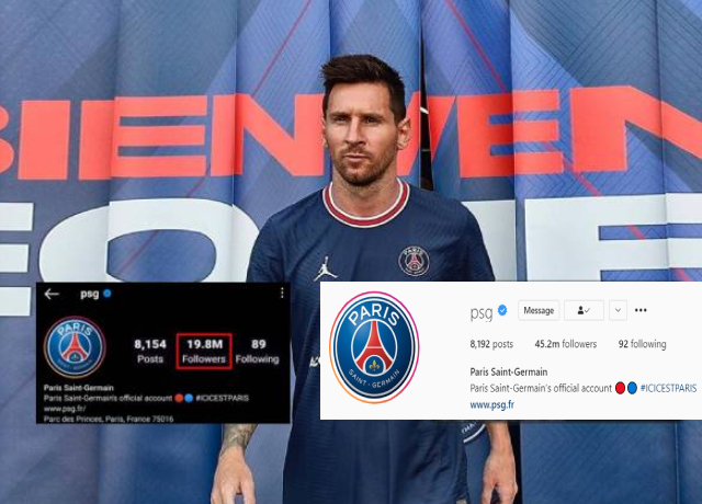 The Messi Effect: PSG gains more than 4 million followers in just a day