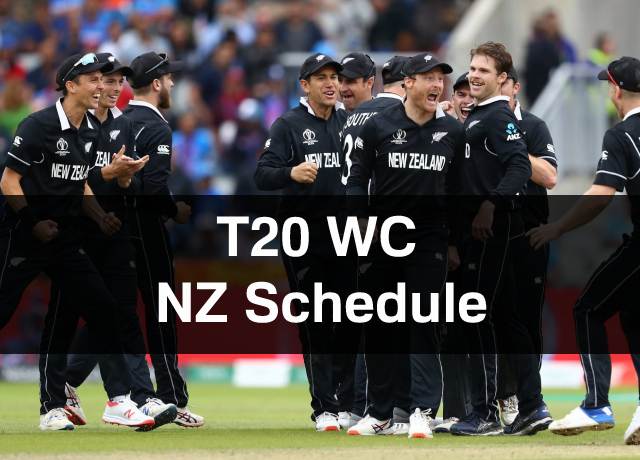 T20 World Cup: New Zealand Schedule, Squad, Time & Date
