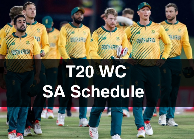 T20 World Cup: South Africa Schedule, Squad, Time & Date