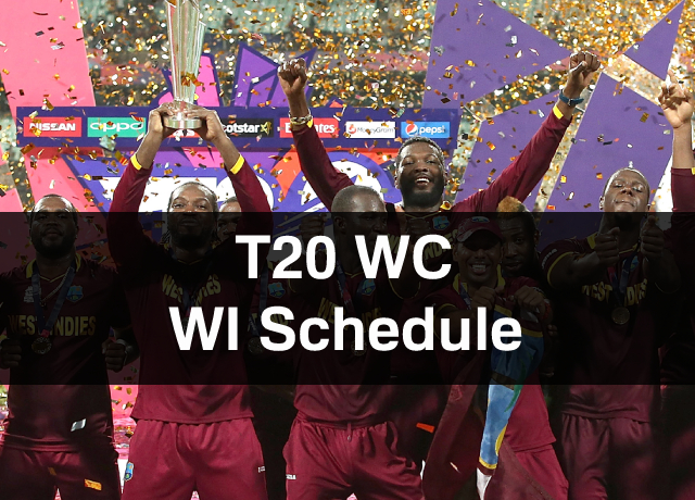 T20 World Cup: West Indies Schedule, Squad, Time & Date