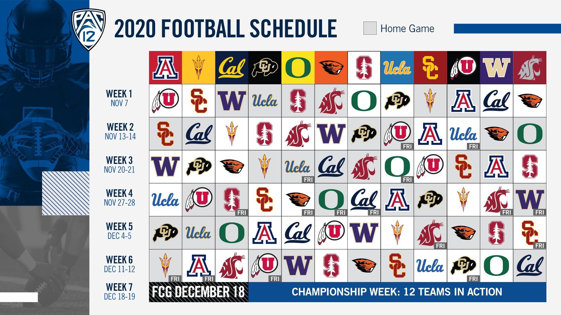 Pac-12 football schedule