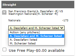 Listed Pitchers