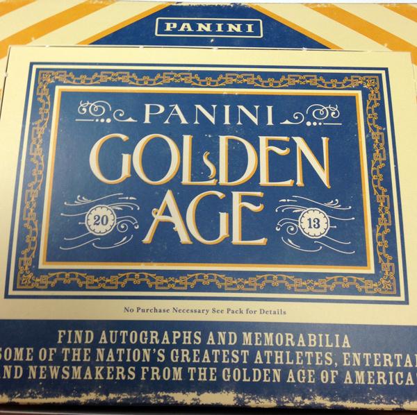 2013 Panini Golden Age pack break review