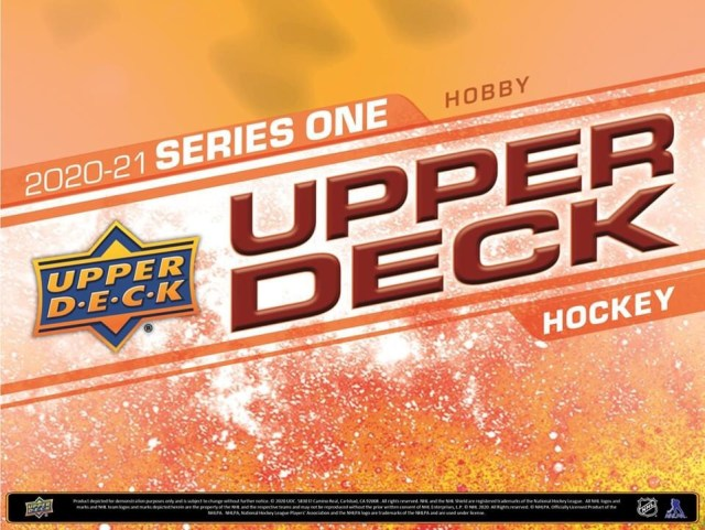 Pack Preview: 2020-21 Upper Deck Hockey Series 1