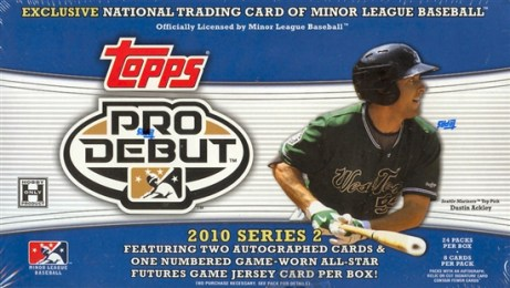 2010 Topps Pro Debut Series 2 Hobby Box