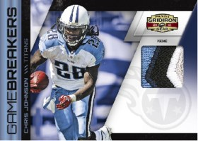 2010 Panini Gridiron Gear Chris Johnson Prime Gamebreakers Jersey Card