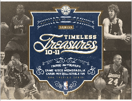 2010-11 Panini Timeless Treasures Basketball Box