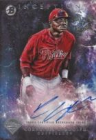 2016 Bowman Inception Cornelius Randolph Autograph Prospect Card