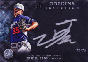 2016 Bowman Inception Origins Jose DeLeon Autograph Card