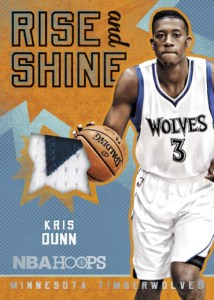 2016-17 Panini NBA Hoops Kris Dunn Rise and Shine Relic
