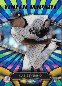 2016 Topps Chrome Youth Impact Luis Severino