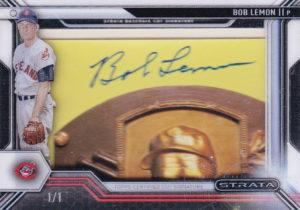 2016 Topps Strata Bob Lemon Cut Autograph 1-1
