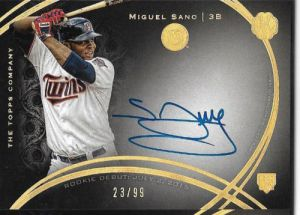 2016 Topps The Mint Miguel Sano Autograph Card