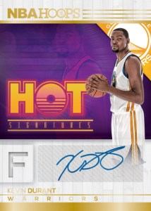 2016:17 Panini NBA Hoops Kevin Durant Hot Signatures Card