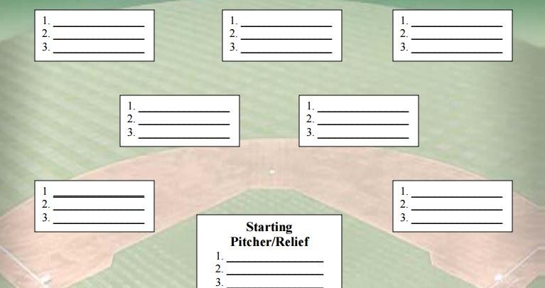 download printable baseball depth chart template