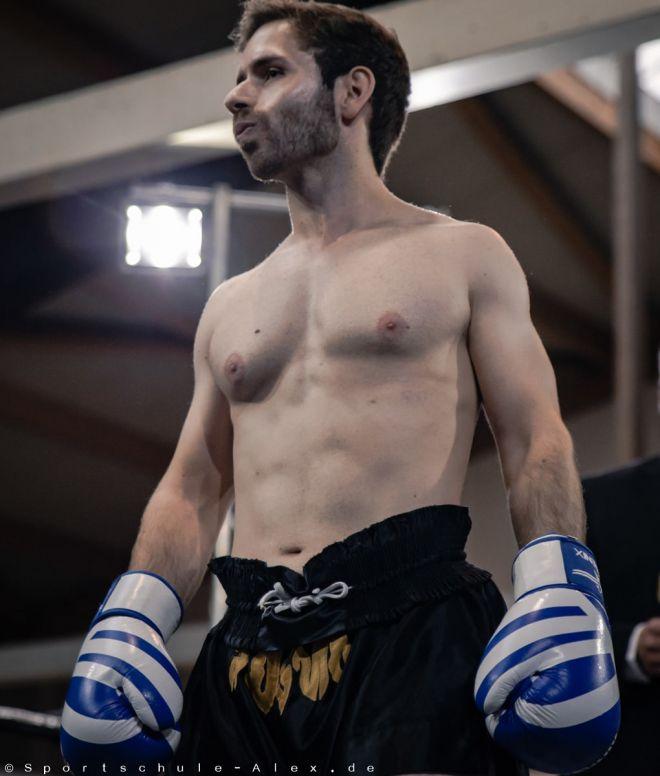 Adrian Hierl von der Sportschule Alex, kämpft im Kickboxen K1 bei der Phönix Fight Night 2017, Gala WKU Foto: Marcela Kamanis