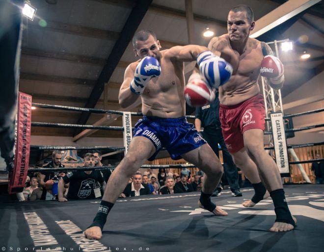 K1 Fight Diamantis Skonidis von der Sportschule Alex gegen Rene Siewert, Phoenix Fight Night Gala 2017, Profi Deutscher Meister WKU