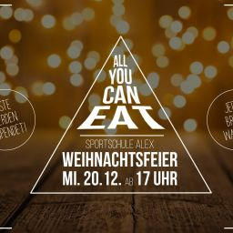 All you can eat Weihnachtsfeier 2017.