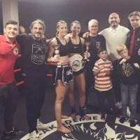 Antonia Eggeling nutze Chance auf Profi Titel Deutsche Meisterin im Kickboxen Lowkick der WKU