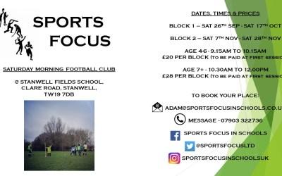 Stanwell Fields Saturday Morning Football Club