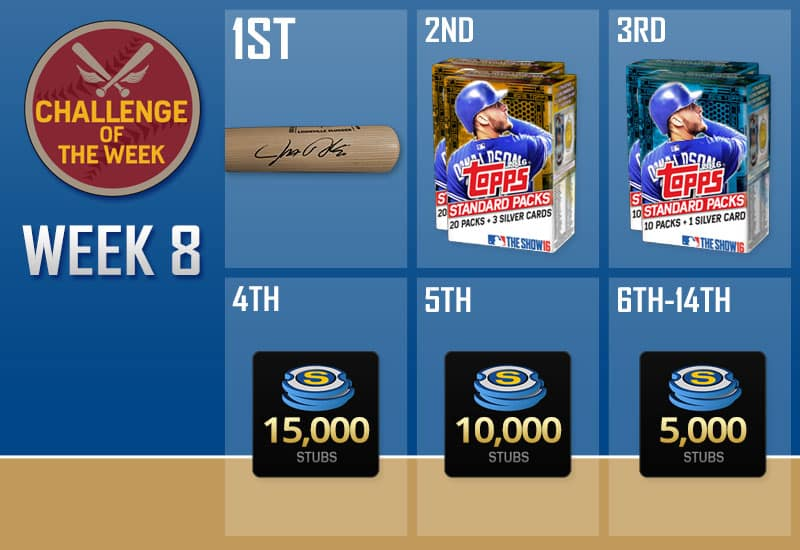 mlb the show 16 challenge of the week 8