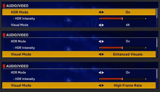 PS4 Pro Options