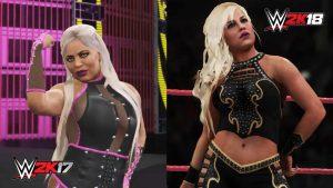 WWE 2K18 Dana Brooks Comparison