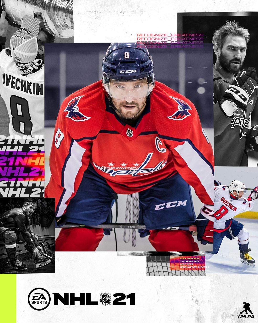 NHL 21 Cover Athlete Alex Ovechkin