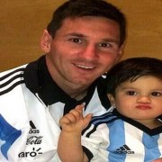 Lionel Messi and Thiago Messi Cutest Father-Son Footballer