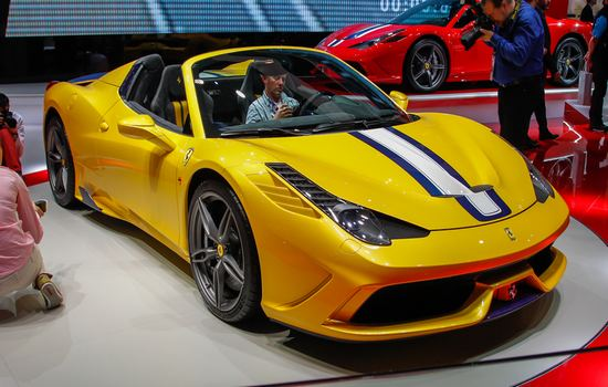 2015 Ferrari 458 Spider Most Expensive Sports Cars