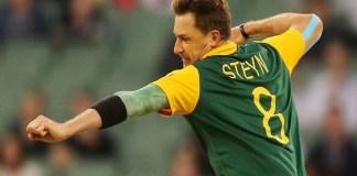Dale Steyn Dale Steyn breaks the stumps of batsman