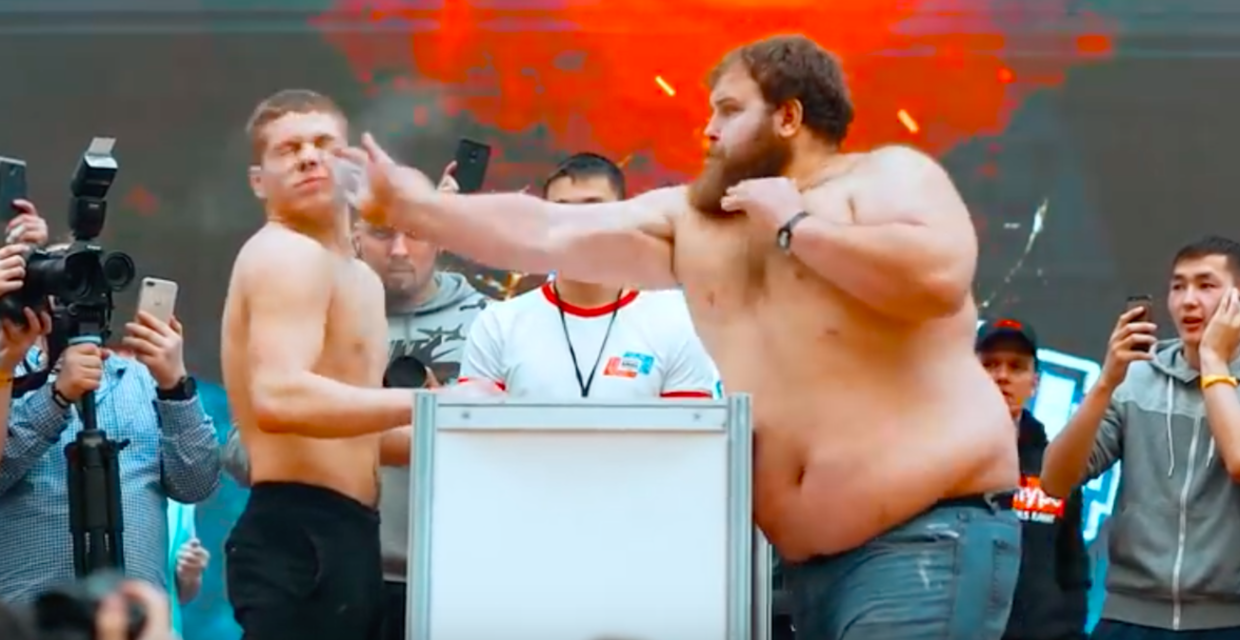 Russian 'Male Slapping Championships' Proves to be a Huge Hit