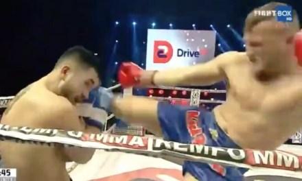 Kickboxer Eduard Gafencu Delivers Knock Out '540 Tornado Kick'