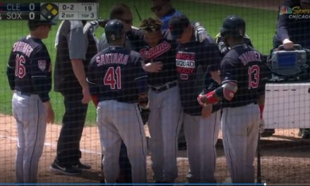 Indians Third Baseman Jose Ramirez Was Carted Off the Field After Fouling a Ball Off His Leg