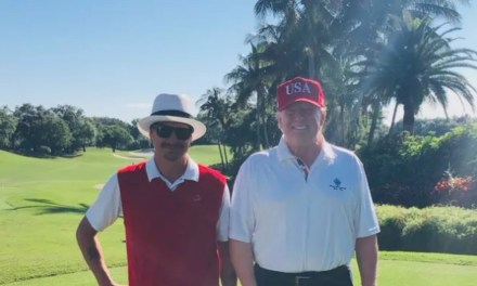 """Kid Rock and President Trump """"Keep America Great"""" on the Golf Course"""