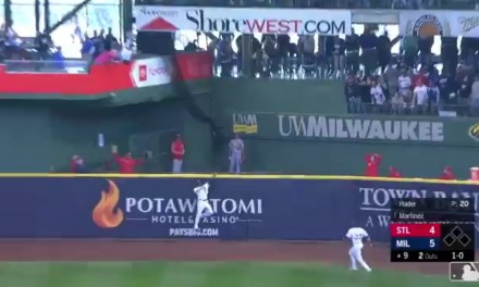 Lorenzo Cain Robbed a Home Run with Two Outs in the 9th Inning