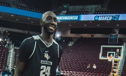 UCF's Tacko Fall Standing Next To CBS' Tracy Wolfson is Comical