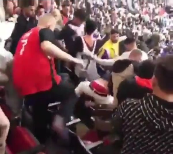 A Fight Broke out in the Stands at the Lakers Raptors Game