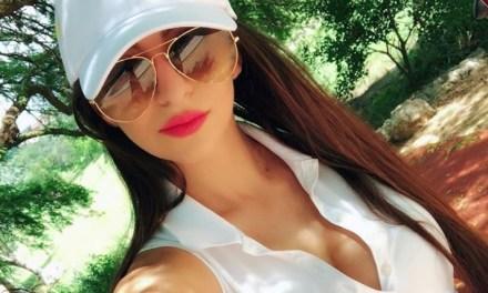 Watch Professional Golfer Sasha Smith Tee Off in High Heels