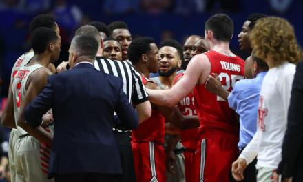 Ohio State and Houston Players Had to Be Separated at Halftime